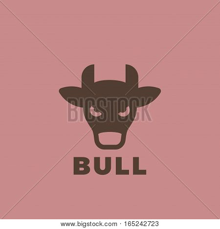 Bull head Logo design vector template. Vintage animal element for badges and posters