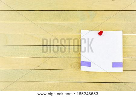 For wooden surfaces pinned pushpin sheet for records