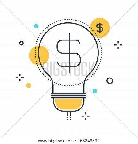 Color Line, Revenue Concept Illustration, Icon