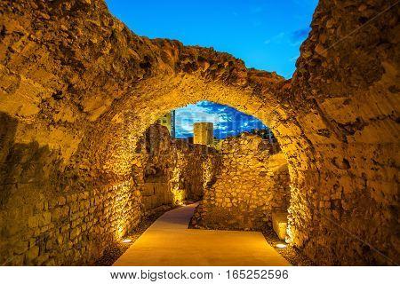 Roman walls of Tarragona in Catalonia, Spain