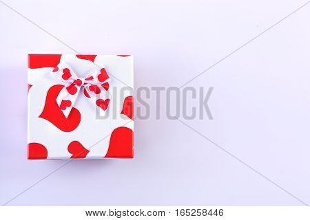 The gift box on Valentines day for girl