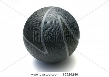 12 lb/ 5.4 kg Medicine ball photographed on white