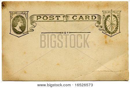 Old Postcard - circa 1910 - blank