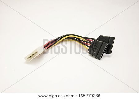 Serial ATA Power Cable on a White Background