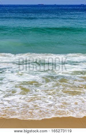 Green and transparent waters on Devil beach in Ipanema Rio de Janeiro