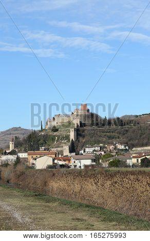 Soave Verona Italy Castle With Medieval Walls