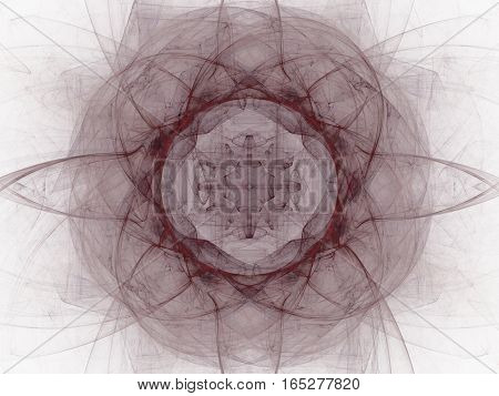 3D Rendering With Burgundy Abstract Fractal Pattern