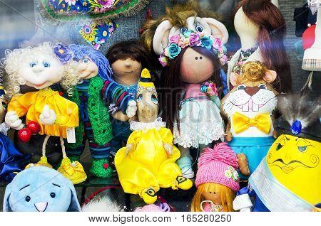 showcase handmade baby rag dolls. Puppet show.