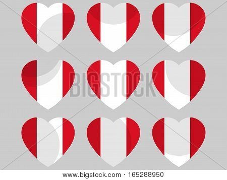 Heart With The Flag Of Peru. I Love Peru. Vector Illustration
