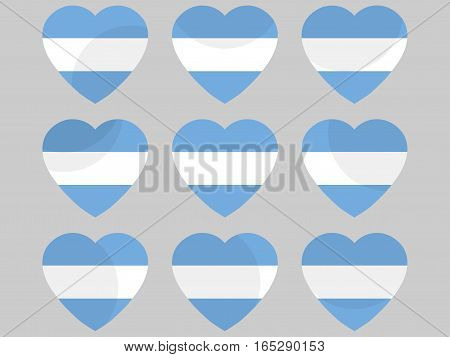 Heart With The Flag Of Argentina. I Love Argentina. Vector Illustration