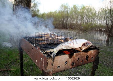 Herring On A Red Coal