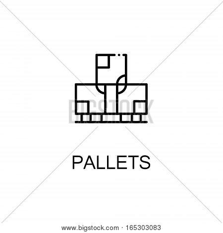 Pallets icon. Single high quality outline symbol for web design or mobile app. Thin line sign for design logo. Black outline pictogram on white background