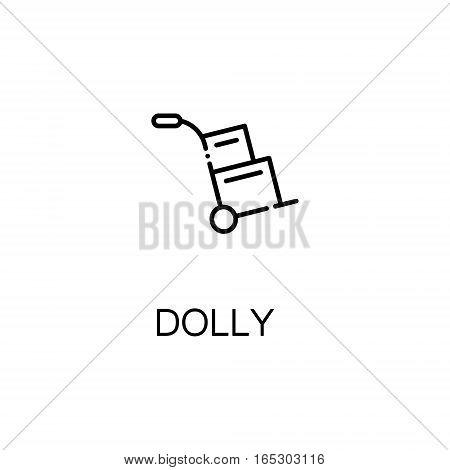 Dolly icon. Single high quality outline symbol for web design or mobile app. Thin line sign for design logo. Black outline pictogram on white background