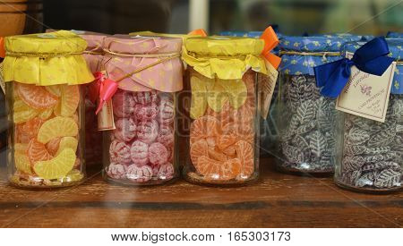 old fashioned sweets for sale in jars