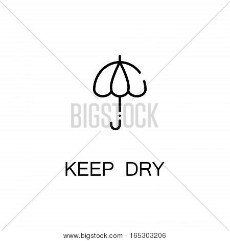 Umbrella icon. Single high quality outline symbol for web design or mobile app. Thin line sign for design logo. Black outline pictogram on white background