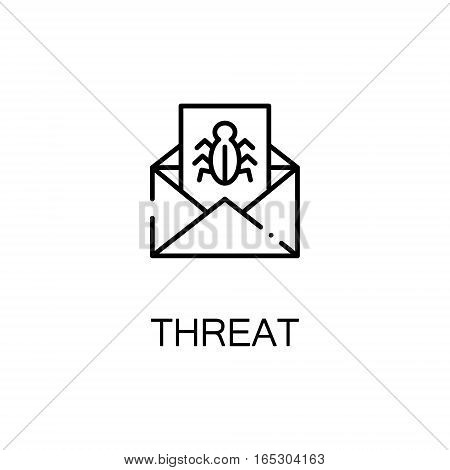 Threat icon. Single high quality outline symbol for web design or mobile app. Thin line sign for design logo. Black outline pictogram on white background