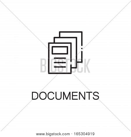 Document icon. Single high quality outline symbol for web design or mobile app. Thin line sign for design logo. Black outline pictogram on white background