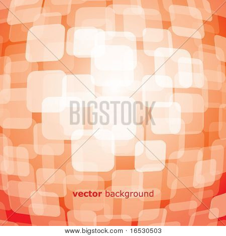 Vector 3D warped square on background