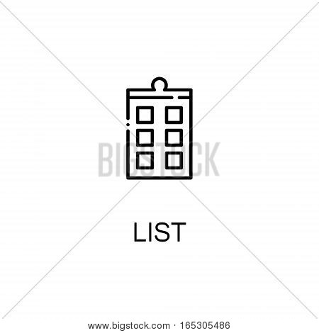 List icon. Single high quality outline symbol for web design or mobile app. Thin line sign for design logo. Black outline pictogram on white background