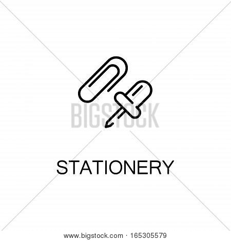 Stationery icon. Single high quality outline symbol for web design or mobile app. Thin line sign for design logo. Black outline pictogram on white background
