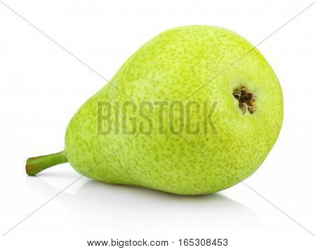 Green Pear Isolated On White