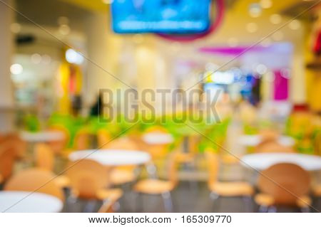 abstract background blur Store mall food court