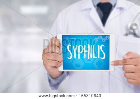 Syphilis Blood For Syphilis Test , Syphilis - Printed Diagnosis  , Syphilitic Ulcers Ulcus Durum , S