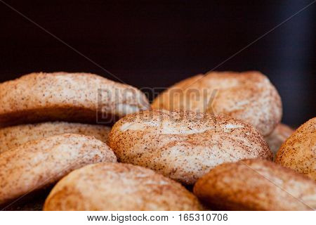 Pile of Delicious Fresh Baked Snickerdoodle Cookies