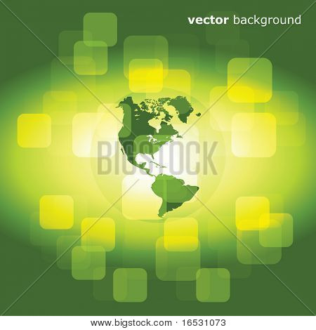 3d eco business abstract background - vector illustration