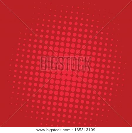 Pop Art Comic Red Background Pattern Illustration Vector