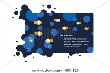 Frame with aqua design