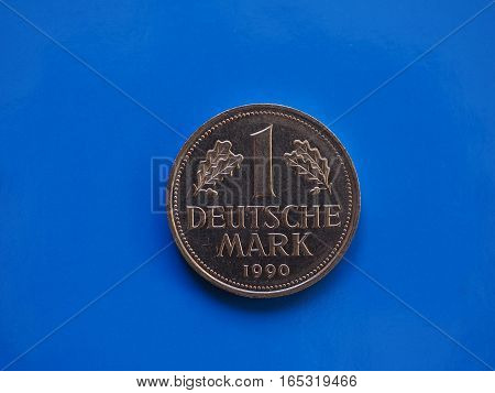 1 Mark Coin, Germany Over Blue