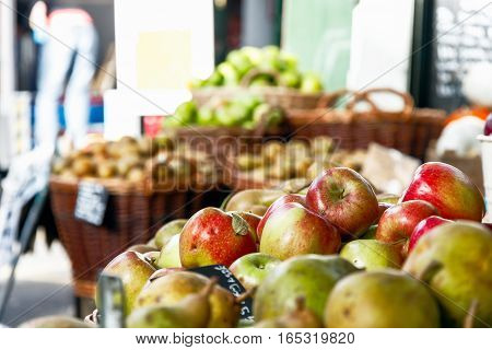 Fresh Apples On Display