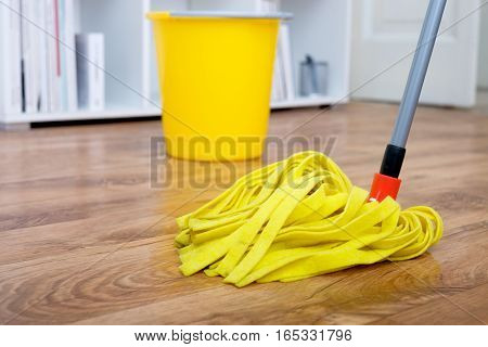 Cleaning tools on parquet floor very good
