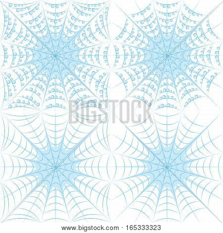 Set of color vector patterns with spider web and drops.