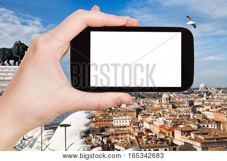 Tourist Photographs Rome City