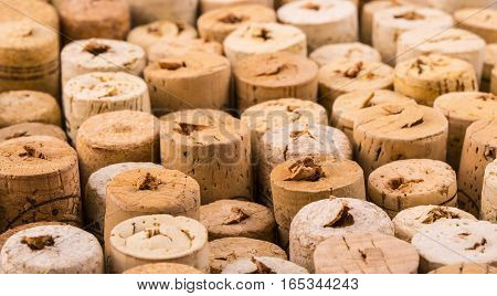 texture cork from wine old  bottles .