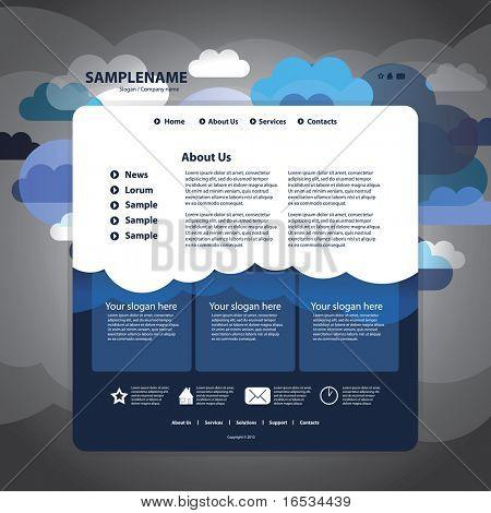 Plantilla de diseño de sitio web