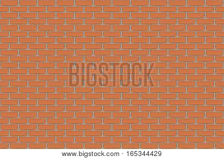 seamless red brick wall for background texture