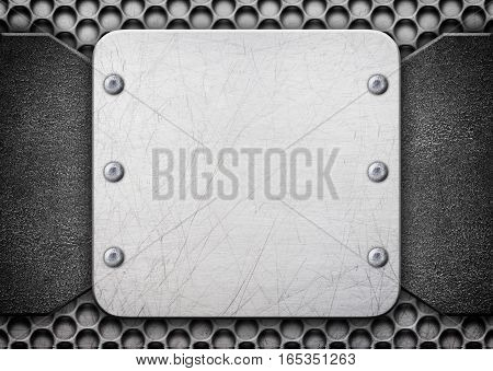 Texture Of The Aluminum Plate, Background Dilapidated Metal,3D Illustration