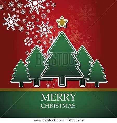 Christmas card template vector
