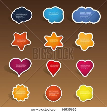 Colorful Labels, Tags