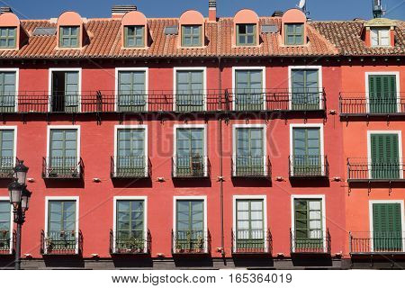 Valladolid (Castilla y Leon Spain): historic buildings in Plaza Mayor the main square of the city