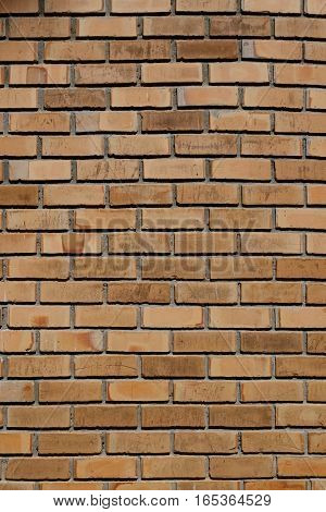 Rough old vintage brown brick wall background