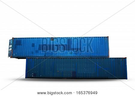 Old of container on a white background.