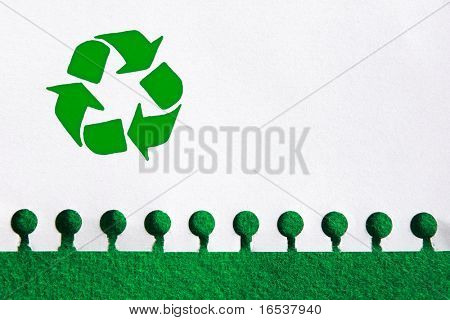 Recycle the paper, save the trees concept