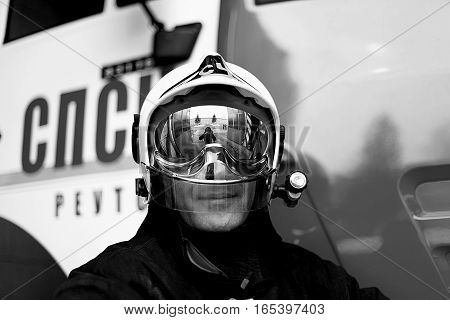 Firefighter protective mask in Moscow save life