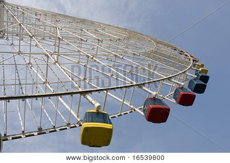 The ferris wheel in a park of china.