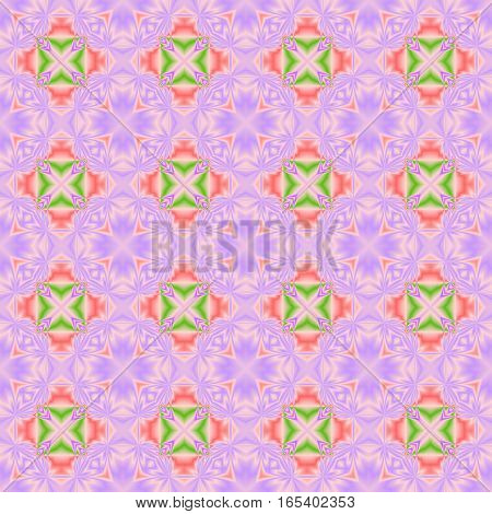 Abstract colorful tile pattern.  Multicolor purple mosaic texture background. Seamless illustration.
