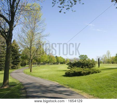 Caminho de carrinho de golfe